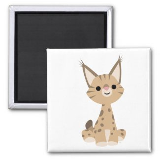 Cute Cartoon Lynx Magnet magnet