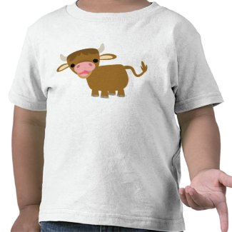 Cute Cartoon Ox children T-shirt shirt