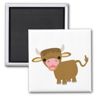 Cute Cartoon Ox magnet magnet
