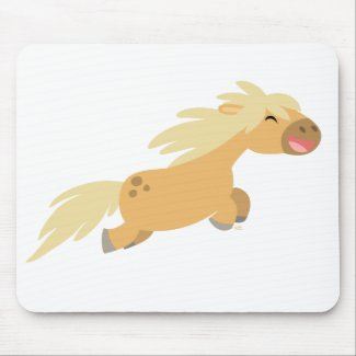 Cute Cartoon Palomino Pony mousepad mousepad