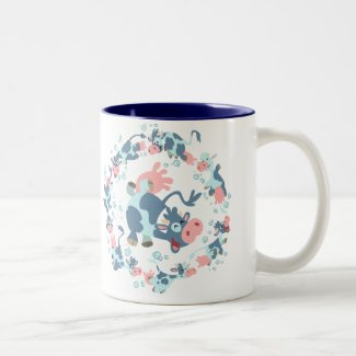 Cute Cartoon Sea Cows Mug mug