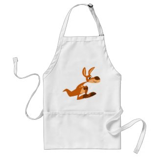 Cute Cartoon Silly Kangaroo Cooking Apron apron