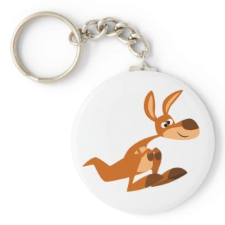 Cute Cartoon Silly Kangaroo Keychain keychain