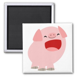 Cute Cartoon Singing Pig Magnet magnet
