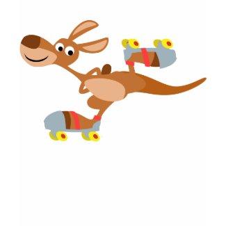 Cute Cartoon Skating Kangaroo Children T-Shirt shirt