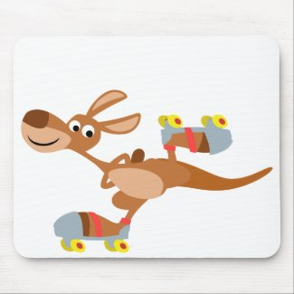 Cute Cartoon Skating Kangaroo Mousepad mousepad