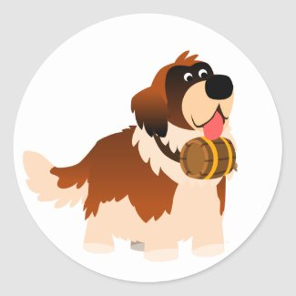 Cute Cartoon St Bernard Sticker sticker