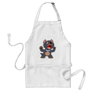 Cute Cartoon Tasmanian Devil Apron
