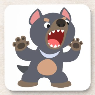 Cute Cartoon Tasmanian Devil Coaster Set