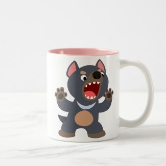 Cute Cartoon Tasmanian Devil Mug