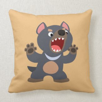 Cute Cartoon Tasmanian Devil Pillow
