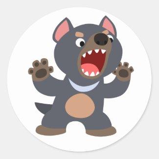 Cute Cartoon Tasmanian Devil Sticker