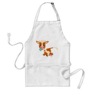 Cute Cartoon Trotting Cow Cooking Apron apron