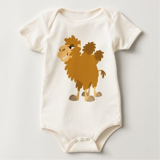 Cute Cartoon Two-Humped Camel Baby T-Shirt shirt