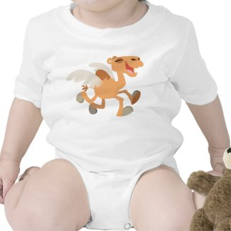 Cute Cartoon Winged-Camel Baby shirt
