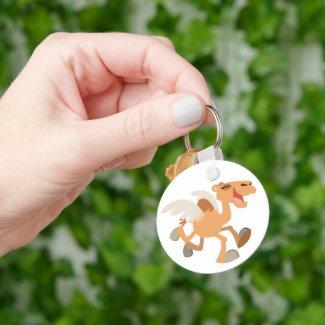 Cute Cartoon Winged-Camel Keychain keychain