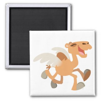 Cute Cartoon Winged-Camel Magnet magnet