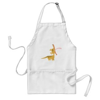 Cute Cartoon Yawning Thylacine Cooking Apron apron