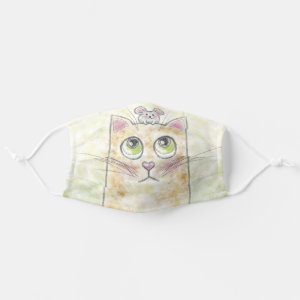 Cute Cat and Mouse Cloth Face Mask