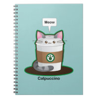 Cute Cat Coffee Notebook