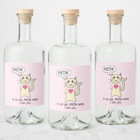 Liquor Bottle Label
