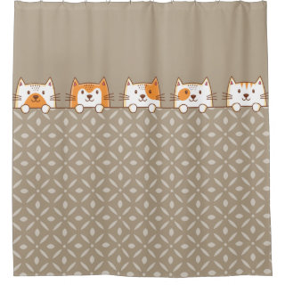 Cute Cats Peeping Shower Curtain