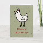 From One Cute Chick To Another Birthday Wishes Card