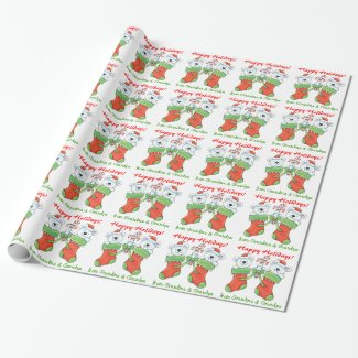 Cute Christmas Bears Grandchild Gift Wrap Paper
