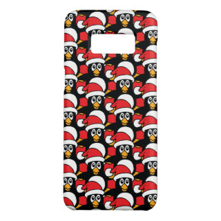 Cute Christmas Penguins Pattern Red Case-Mate Samsung Galaxy S8 Case