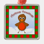 Cute Christmas Robin Redbreast Christmas Tweetings Christmas Tree Ornaments
