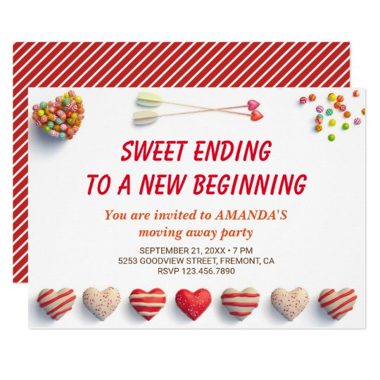 Cute Colorful Cans Farewell Party Invitation