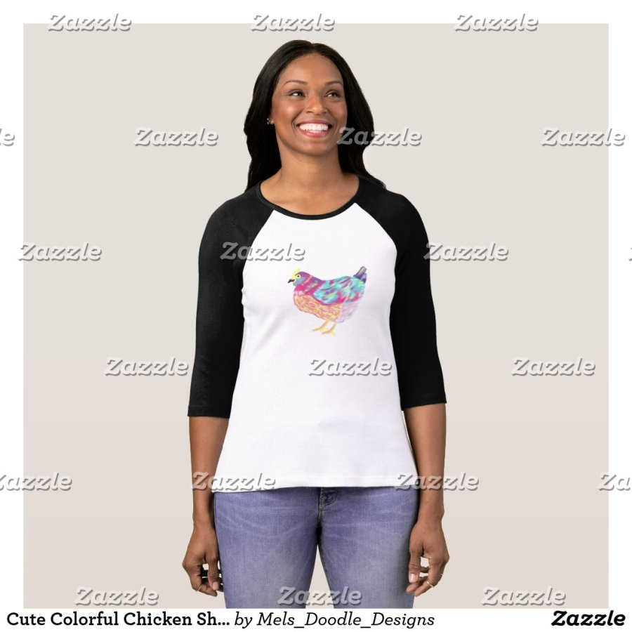 Cute Colorful Chicken Shirt