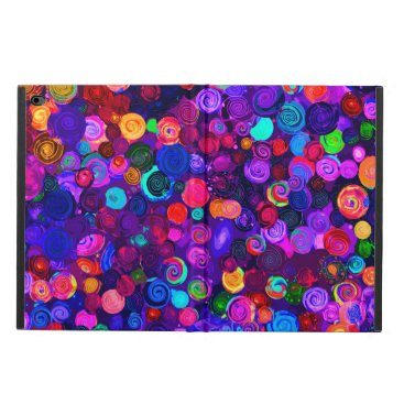Cute colorful spiral cosmos patterns powis iPad air 2 case