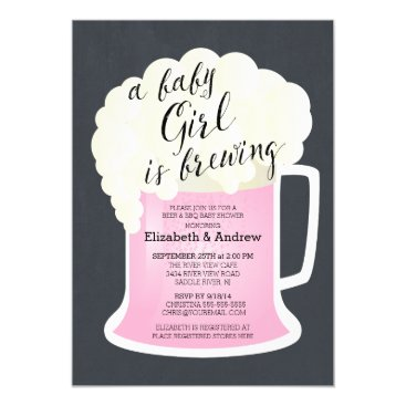 Cute Couples Girls Baby Shower Baby Brewing Card