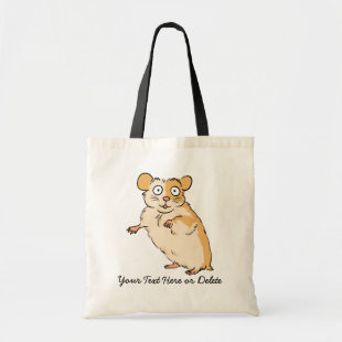 Cute Custom Hamster Graphic Budget Tote Bag