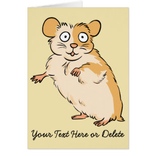 Cute Custom Hamster Graphic Greeting Card