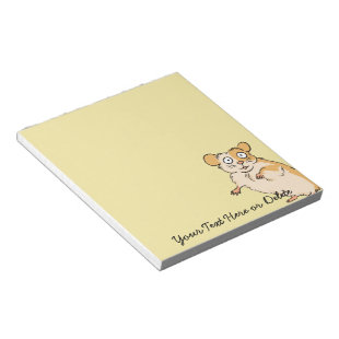 Cute Custom Hamster Graphic Memo Pad
