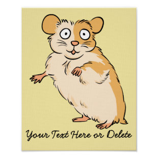 Cute Custom Hamster Graphic Poster