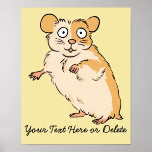 Cute Custom Hamster Graphic Poster