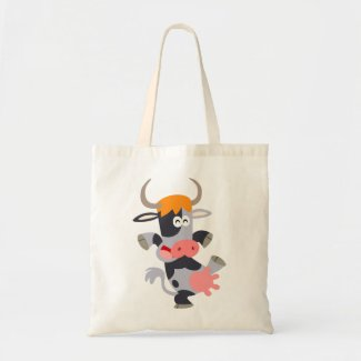 Cute Dancing Cartoon Cow Bag