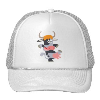 Cute Dancing Cartoon Cow Hat