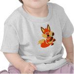 Cute Dancing Cartoon Fox Baby T-Shirt