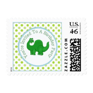 Cute Dinosaur : Birthday Party Postage zazzle_stamp