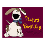 Cute Dog Birthday Postcard
