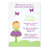 Cute Fairy Invitations