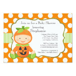 Cute Fall Pumpkin Neutral Baby Shower Invitation