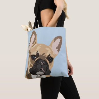 Cute Fawn Red French Bulldog | Frenchie Tote Bag