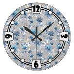 Cute floral pattern , flowers , floral pattern large clock