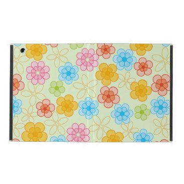 Cute Flower Pattern iPad Folio Case