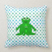 Cute Frogs: Pillow throwpillow